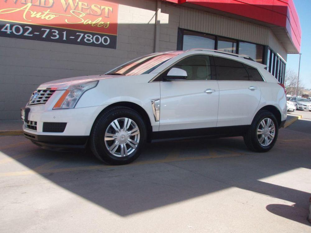 2013 WHITE CADILLAC SRX LUXURY COLLECTION (3GYFNGE31DS) with an 3.6L engine, Automatic transmission, located at 6610 L St., Omaha, NE, 68117, (402) 731-7800, 41.212872, -96.014702 - Photo #0